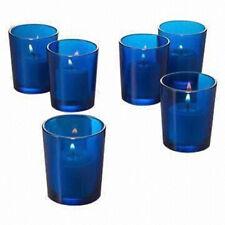 10 Sea Ocean Blue Glass Cup Tea Light Votive Wedding Party Candle Holder Favor