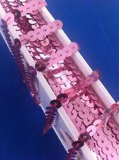 Sequin String 6mm Pastel Pink AB Rainbow  x By The Meter Braid Trim