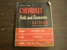 Oem 1929 1958 Chevrolet Master Parts Book Bel Air Impala Corvette Nomad