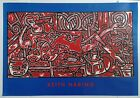 """KEITH HARING """"RED ROOM"""" LITHO/PRINT POSTER NEUES PUBLISHING CO. VERLAG GERMANY"""