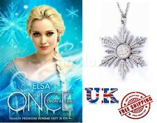 Once Upon a Time Character Anna's Frozen Snowflake Pendant Necklace - Brand New