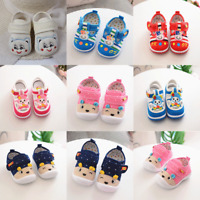 Infant Kids Baby Boys Girl Cartoon Anti-slip Shoes Soft Sole Squeaky Sneakers