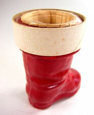 Antique 'Dime Store' Christmas Red Santa'S Boot Candy Container - 1930-50s
