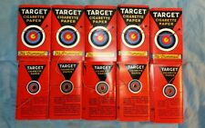 Lot of 10 Vintage Unused Target Smoking Tobacco Cigarette Rolling Papers 1931