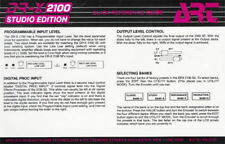 ART DR-X2100 DIGITAL EFFECTS PROCESSOR ORIGINAL REFERENCE GUIDE