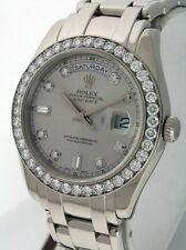 Rolex Pearlmaster Masterpiece $95,500.00 Platinum gent's 40mm Diamond watch.