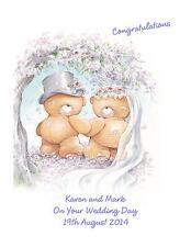 Wedding DAY complimenti a5 CARD AMICI Personalizzata Figlia figlio i genitori