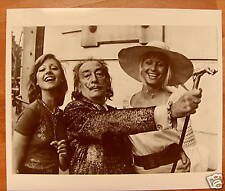 SALVADOR DALI*PHOTO*MISS*SPAIN*EUROPE*BARCELONE*1974*OR