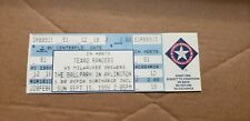 SEPT 25 1996 FULL TICKET STUB NOLAN RYAN # RETIREMENT NIGHT JERSEY TEXAS RANGERS