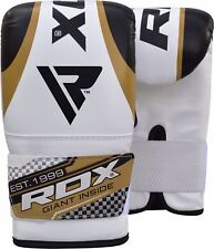 RDX Gel Pro Bag Mitts Bokshandschoenen MMA Muay Thai Training Grappling Gouden