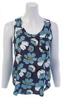 LOFT OUTLET Floral Shell Top with Pocket Sleeveless