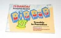 Dig Dug II Trouble In Paradise (Instruction Manual Only) Nintendo NES