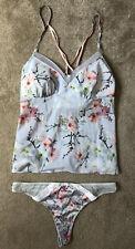 Ted Baker Women's Blue Floral Vest Top Knickers Cami Set UK 12 / EU 40 New