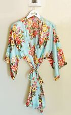 Floral Satin Robe Bridal Party Bride Bridesmaid Wedding Birthday Gift