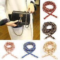 52″ Purse Bag Strap Crossbody Replacement Shoulder Handbag Handle Metal Chain