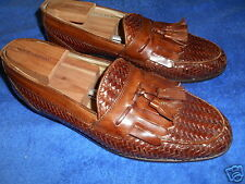 JOHNSTON & MURPHY HANDCRAFTED DOMANI WOVEN LOAFER SHOES SIZE 10M FROM ITALY.!!