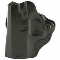 DeSantis Gunhide Mini Scabbard Belt Holster, Fits Glock 43/43X, LH Black Leather