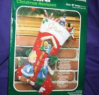 Bucilla Christmas Stocking Jeweled Felt Kit MIRACLE OF CHRISTMAS applique sequin