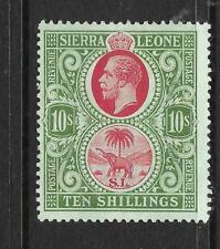 SIERRA LEONE  1912-21   10/-   KGV   MLH     SG 127a