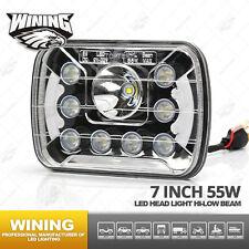 "Pair 7x6"" 55W Sealed Beam Angel Eyes LED Light Bulbs CREE LED Headlight Headlamp"