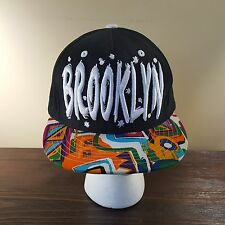 Brooklyn Snapback Hat Embroidered Multi-color Abstract Flat Bill KB ETHOS
