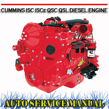 CUMMINS ISC ISCe QSC QSL DIESEL ENGINE WORKSHOP SERVICE REPAIR MANUAL ~ DVD