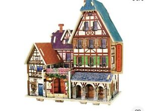 1:24 DIY Miniatures Dollhouse Wooden Model Kits Puzzle Toy France Hotel
