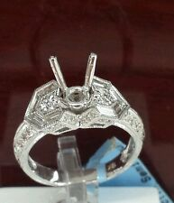 18k white gold solitaire engagement& wedding setting only. diamonds 1.00cttw