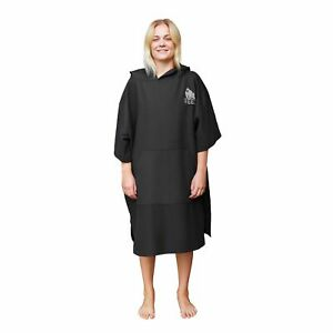 Travel Changing Robe Poncho Black (all sizes)