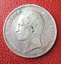 Belgique - Léopold Ier - Très Jolie  5 Francs 1865  Tête nue -