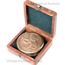 Vintage Nautical Compass Brass Antique Koala Native Australian Gift