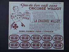 Ancienne Publicité CHICOREE MOGTA WILLIOT POIX-DU-NORD 250 gr prime épicerie