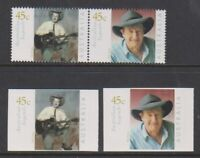 Australia - 2001, Australian Legends set & Adhesive Values - MNH - SG 2069/70