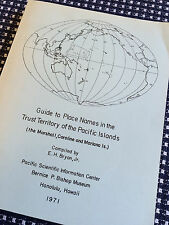 GUIDE PLACE NAMES TRUST TERRITORY PACIFIC ISLANDS Marshall Caroline Mariana Book