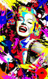 QUADRO Marilyn Monroe dipinto opera unica abstract stampa su tela italia pop art