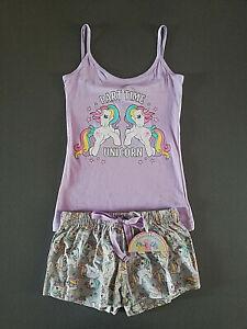 My Little Pony Einhorn Damen Pyjama Shorty Kurz XS-L Schlafanzug Set Primark