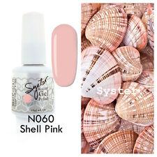 SYSTER 15ml Nail Art Soak Off Color UV Lamp Gel Polish N060 - Shell Pink