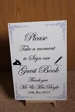 Personalised Please Sign Our Wedding Guest Book Metal Sign - NEW