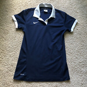 Nike Golf Dri-Fit Women's Polo Shirt Size Small Navy Blue Polyester
