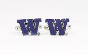 University of Washington Cufflinks Huskies NCAA--Custom College Seattle UDub