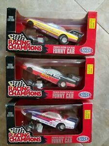 Racing Champions Lot of 3 NHRA 1996 Funny Cars 1:24 Scale Diecast NIB