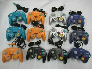 E507 Nintendo GameCube 12 Controller set Orange/Silver/Emerald Blue Japan GC x
