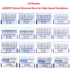 20 Models Dental Diamond Burs Drills for High Speed Handpiece AZDENT 10Pcs/kit