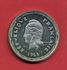 ( ES 49) ESSAI DE 100 FRANCS NOUVELLES HÉBRIDES  1966 (ARGENT) FLAN MIROIR