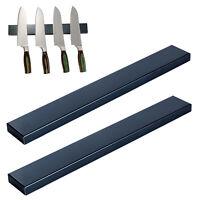 2er Set Magnetleiste Schwarz 40cm | Edelstahl Messerleiste | Magnet Messerhalter