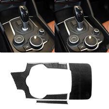 3pcs Carbon Fiber Console Gear Shift Panel Cover Decal fit for Alfa Romeo Giulia