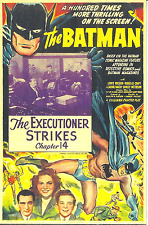 THE BATMAN - MAGNET - 1943 MOVIE SERIAL REPRODUCTION - LEWIS WILSON AS BATMAN