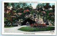 *Franciscan Monastery Washington DC The Grotto of Lourdes Postcard B48