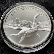 2018 LOCH NESS 1 oz .999 Fine Silver High Relief Lochness Monster Sea
