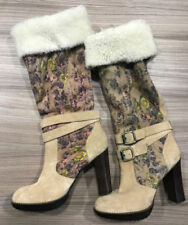 100% Leather Floral Women's Suede